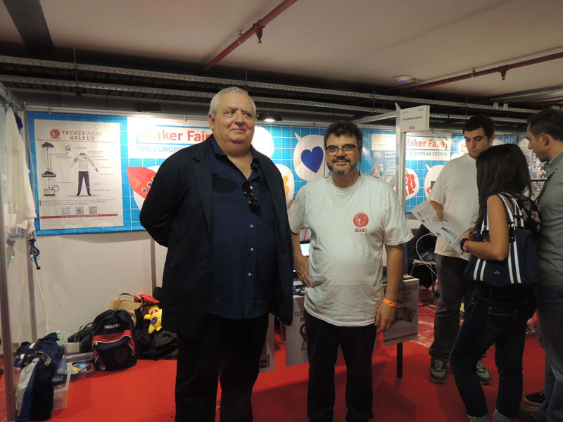 Ciro e Duilio alla Maker Faire Rome 2014